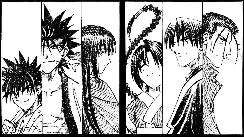 Alguns dos personagens
